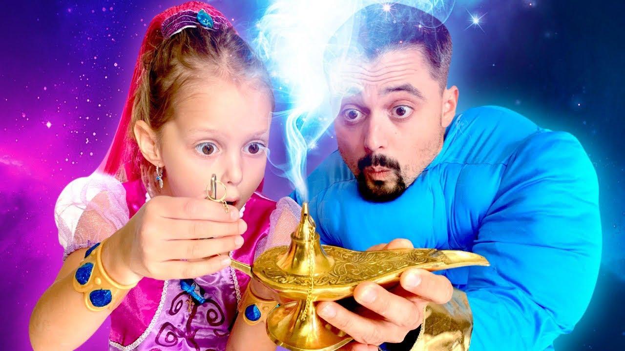 Волшебная Лампа с Джином! Кому достанутся 3 желания: Амельке или Папе?