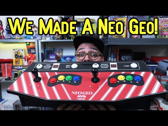 We Made A Neo Geo! Custom SNK Neo Geo 2 Player Panel With All Games!