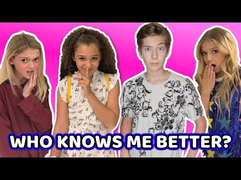 WHO KNOWS ME BETTER? With Sawyer Sharbino, Sarah Dorothy Little And Indigo Carey