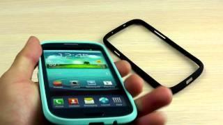 """Обзор: Оригинальный Пластиковый Бампер для Samsung Galaxy S3 GT-i9300 """"MBL"""" + Пленка"""