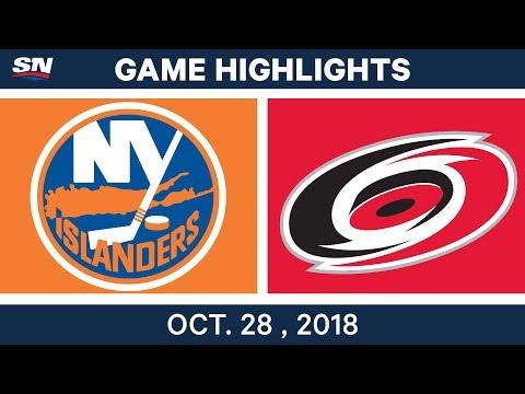 NHL Highlights | Islanders vs. Hurricanes - Oct. 28, 2018