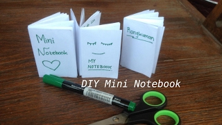 DIY Mini Notebook / Cara membuat notebook kecil hanya dengan selembar kertas