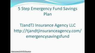 Financial Literacy: 5 Step Emergency Fund Savings Plan FREE Ebook Download