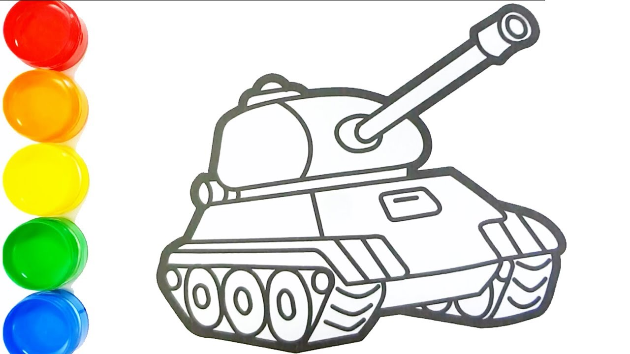 How To Draw A Tank Drawing And Coloring For Kids