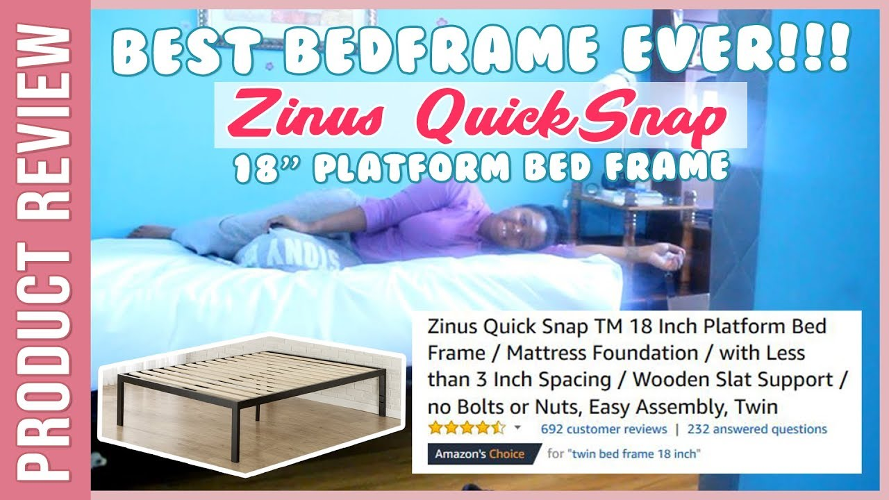 Best Bedframe Ever! Zinus Quick Snap 18 Inch Platform Bed Frame ...