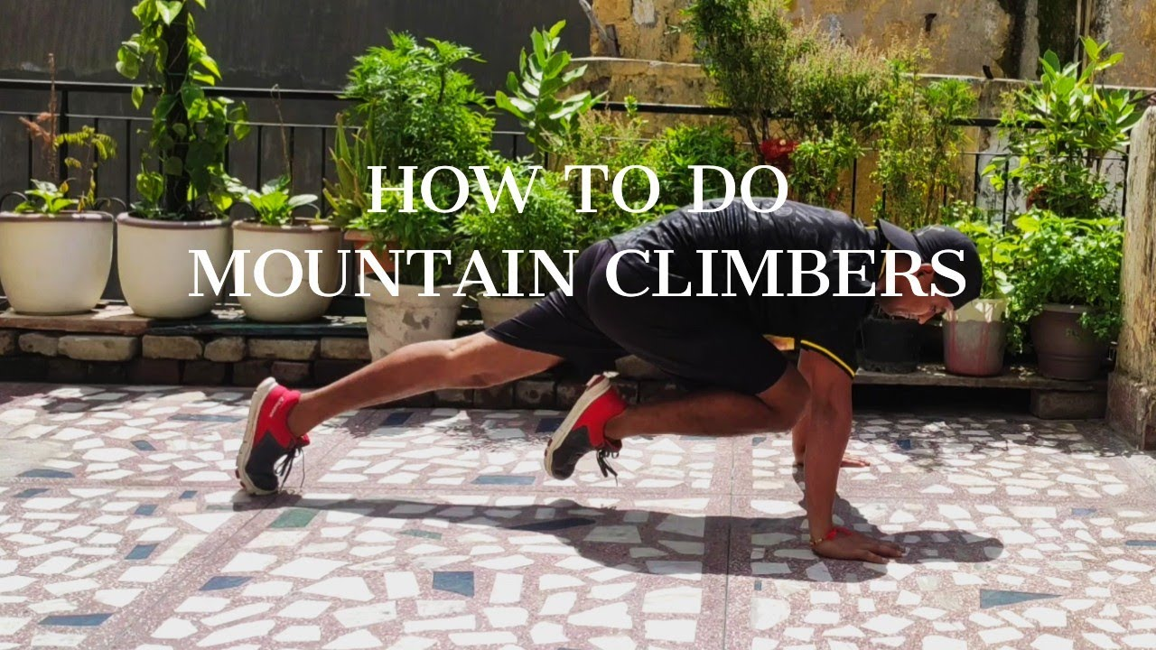 How To Do  Mountain Climber Workout for Beginners. - YouTube
