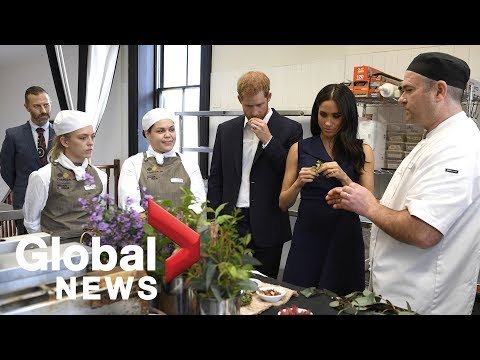 Prince Harry and Meghan Markle get a taste of native Australian food