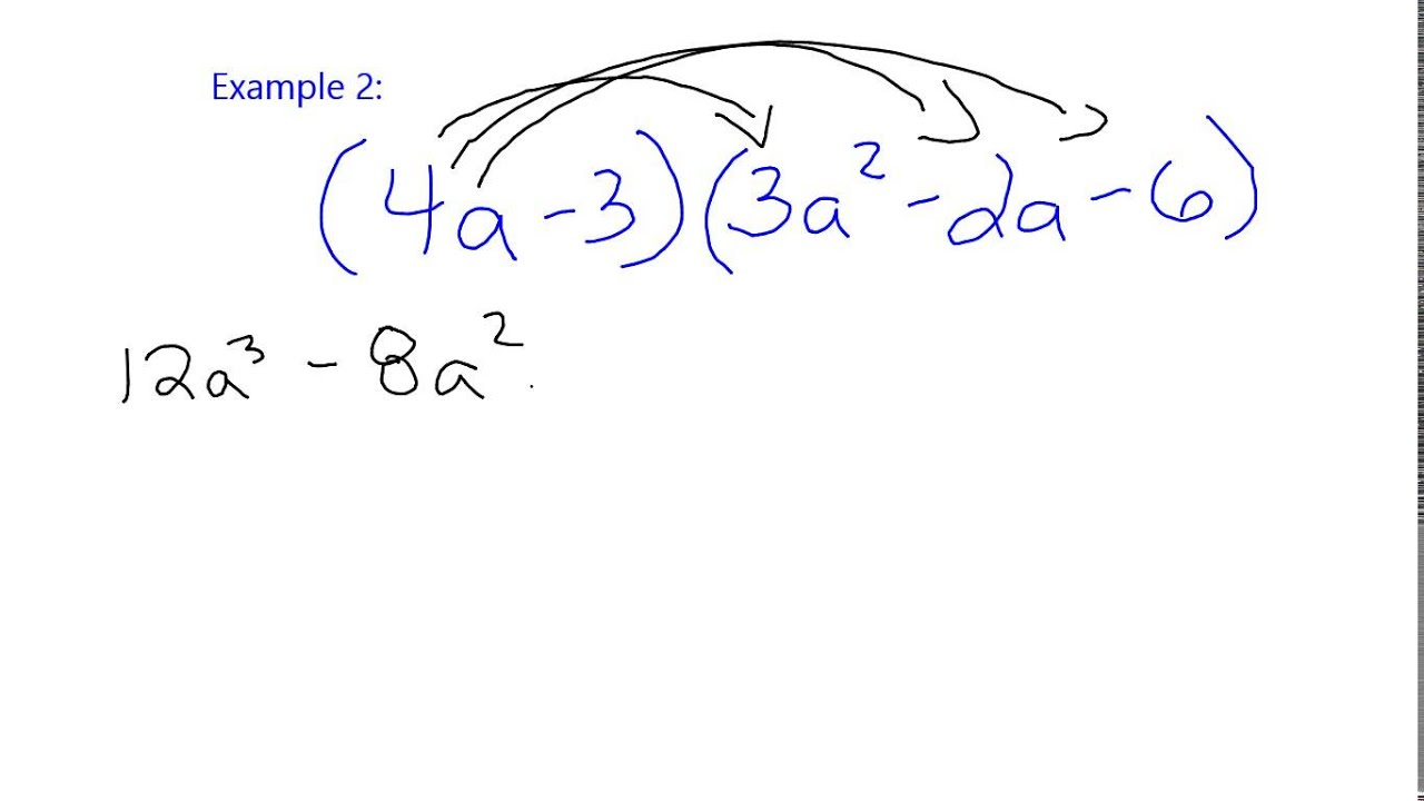 Multiplying Polynomials using FOIL or Double Distribute