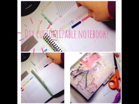Diy customizeable spiral notebook youtube solutioingenieria