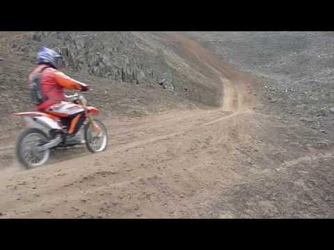 Moto BSE 230cc. subiendo cerro en Chilca-Peru