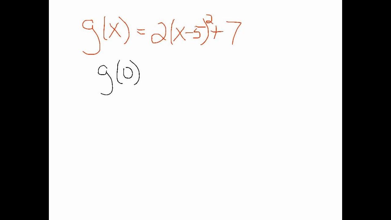 Y intercept from vertex form youtube y intercept from vertex form falaconquin