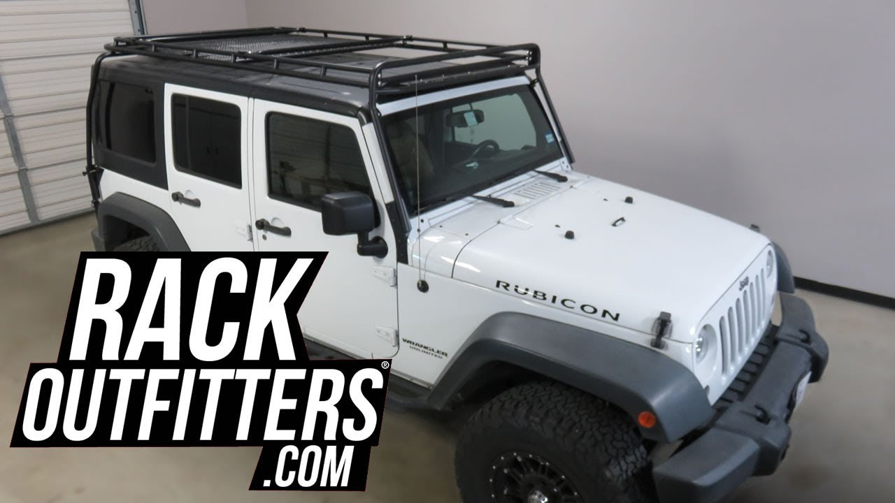 2007 to 2018 jeep wrangler jk with gobi stealth no drill offroad rack [ 1280 x 720 Pixel ]