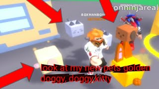 Roblox cookie simulator part 13: look at my new pets kitty,golden doggy,doggy and ironninjareal