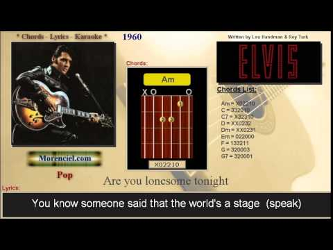 Elvis Presley Are You Lonesome Tonight 0140 Youtube