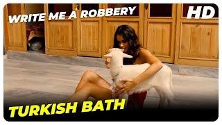 Hacamat is enjoying in the Turkish Bath | Write Me A Robbery Turkish Comedy Movie English Subtitles