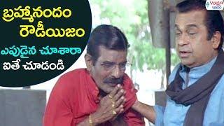 Brahmi rowdyism || latest telugu movies comedy scenes || brahmanandam || volga videos 2017