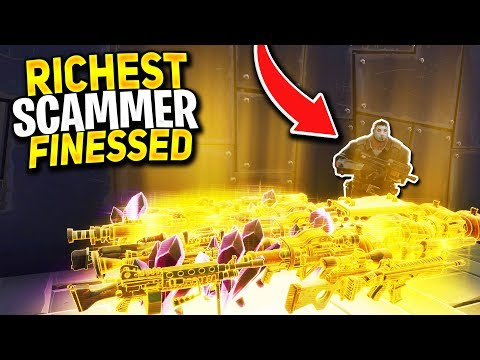 RICHEST Scammer Gets Finessed For WHOLE INVENTORY! (Scammer Get Scammed) Fortnite Save The World