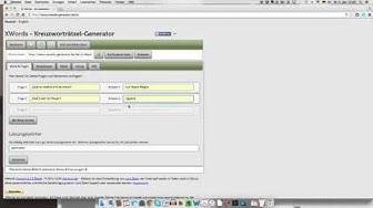 Wie erstelle ich ein online Kreuzworträtsel