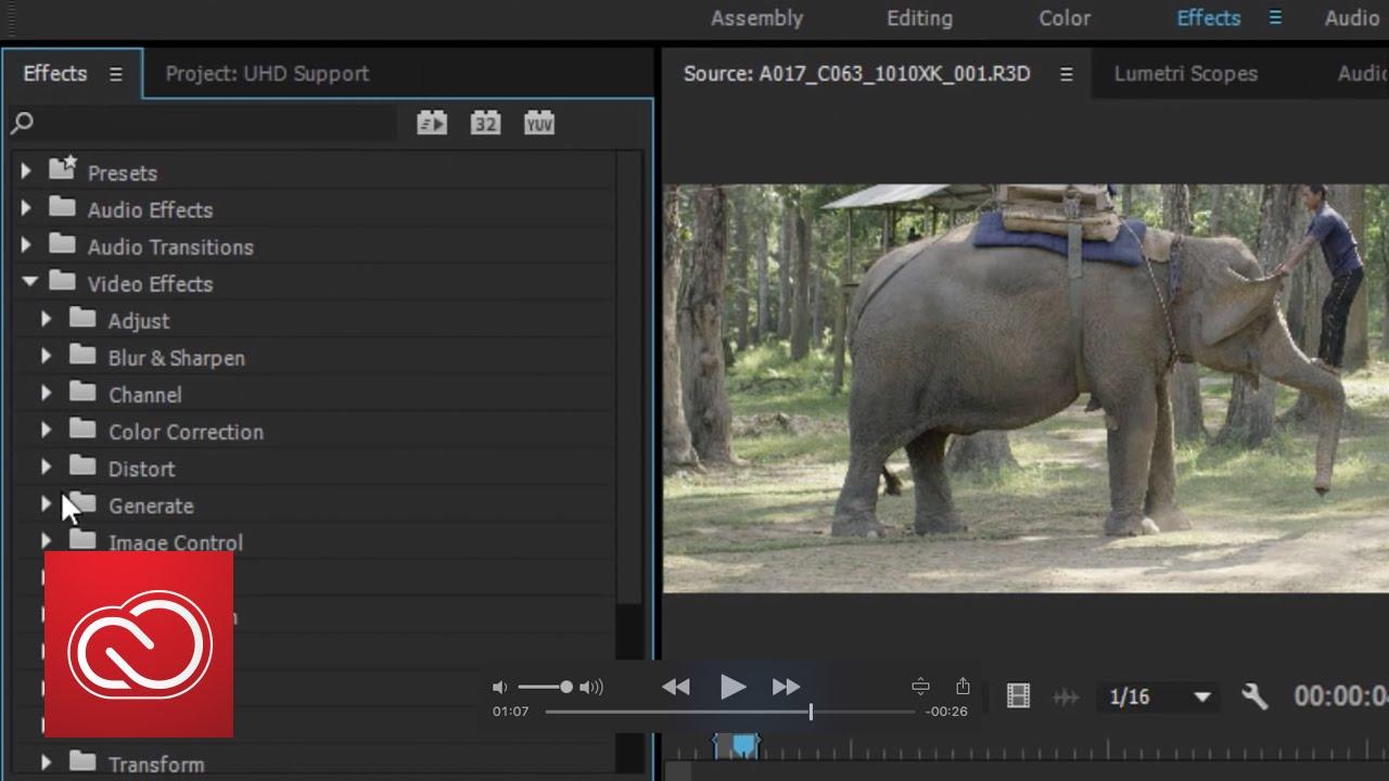 Adobe Premiere Pro CC 2015 1 Update Brings H 265 & More 4K Native