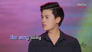 Tình Ngăn Đôi Bờ - Karaoke Nguyễn Thành Viên - Beat chuẩn