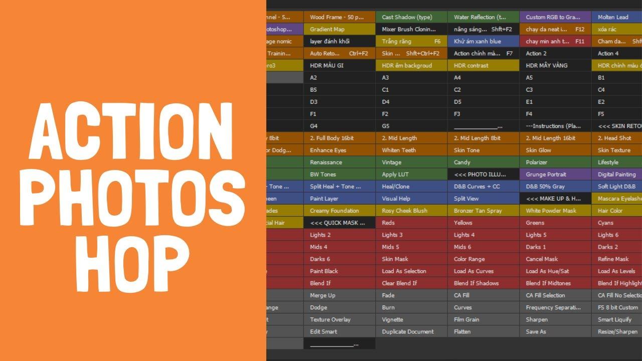 Hướng dẫn tạo action trong photoshop  I chạy action file ảnh hàng loạt