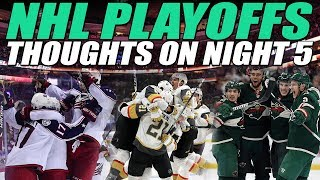 Thoughts on Night 5 of the NHL Playoffs