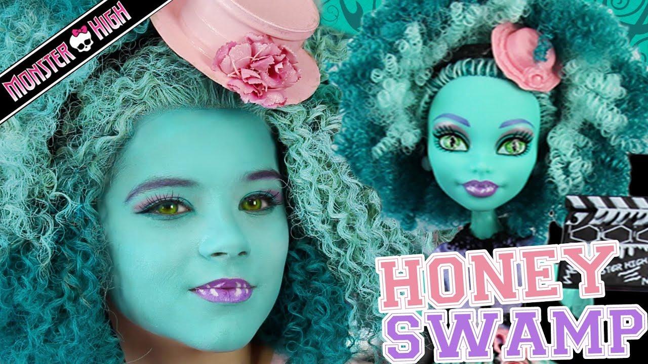 Monster high honey swamp doll makeup tutorial for halloween or monster high honey swamp doll makeup tutorial for halloween or cosplay kittiesmama youtube baditri Gallery