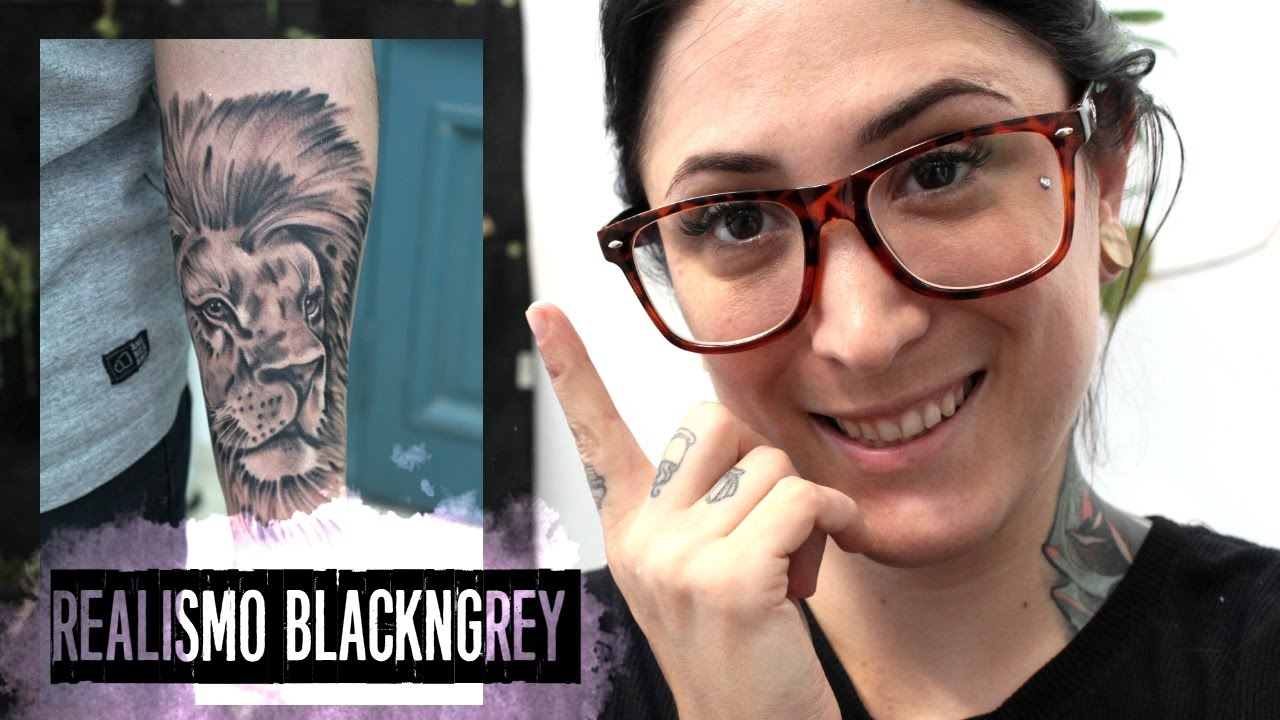 Tatuando León Realista Black And Grey Tattoo Youtube