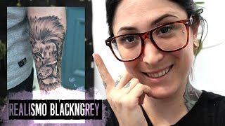 ►TATUANDO LEÓN REALISTA ◄ BLACK AND GREY TATTOO