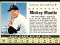 1961 Post Mickey Mantle Baseball Card Commercial