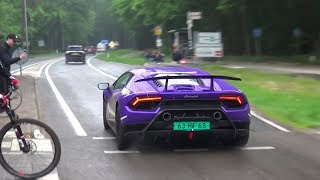 SUPERCARS ACCELERATING, DRIFTS! - 650HP M4, GTR's, Aventador SV, M5 F90, GT4, Speciale!