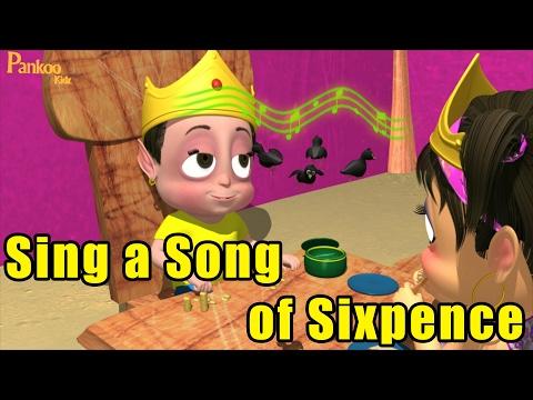 Sing A Song Of Sixpence - Nursery Rhyme Kids Song - Popular Nursery Rhymes - Pankoo Kids