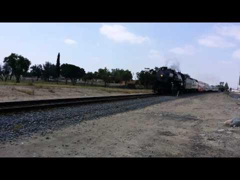 Steam locomotive crossing