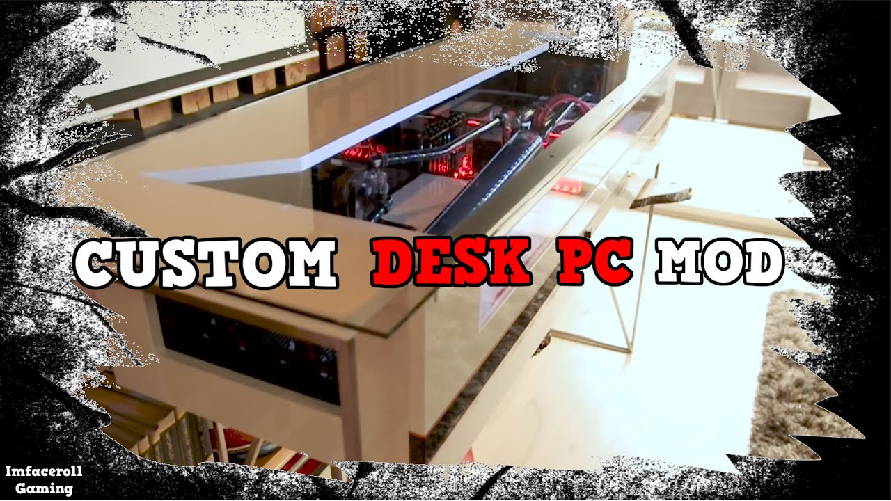 ultimate custom water cooled gaming desk pc mod crazy gaming pc in