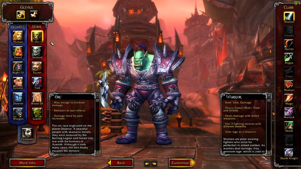 World Of Warcraft Part 1 - Races and Classes Explained