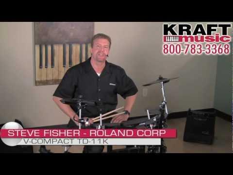 Kraft Music - Roland V-Compact TD-11K  Demo With Steve Fisher