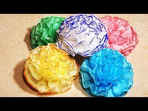 Цветы из салфеток своими руками пошаговое видео