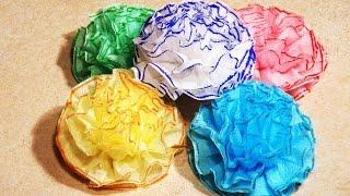 Цветы из салфеток своими руками.(Сделать цветы из салфеток своими руками - очень просто. Просто повторяйте все шаги из видео инструкции и..., 2014-11-01T08:40:25.000Z)