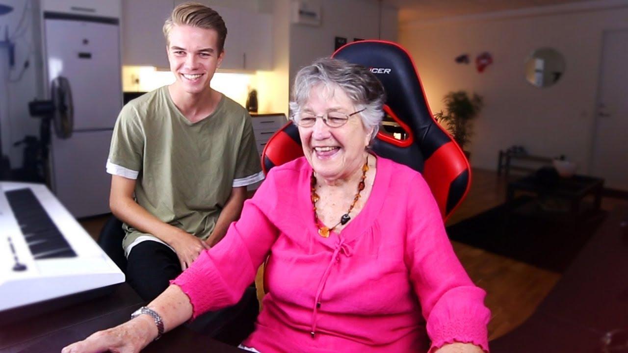 grandma plays grand theft auto 5