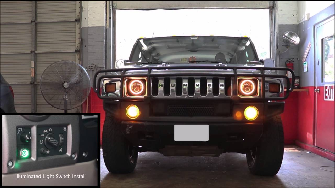Hummer H2 Headlight Wiring Diagram Trusted 2003 And Drl Modification Youtube 6 Wheel