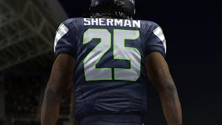 Richard Sherman Seahawks Makes Player Rage Live Commentary - Madden 25 Online Gameplay | cookieboy17