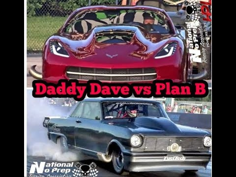 Daddy Dave vs Plan B New Twin Turbo Corvette at Thunder Valley Oklahoma