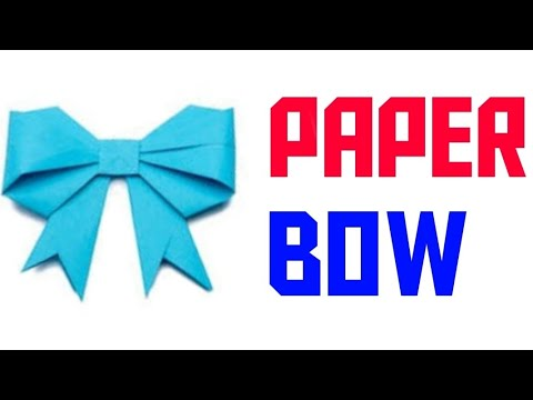 How to make paper bow||very easy||