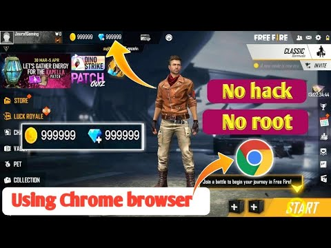 How To Get Free Unlimited Daimonds In Free Fire Using Chrome Browser   1000% Working  