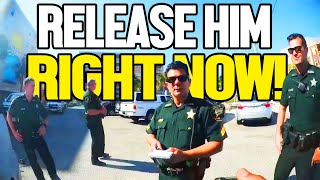 SHERIFF ORDERS DEPUTIES TO RELEASE CITIZEN