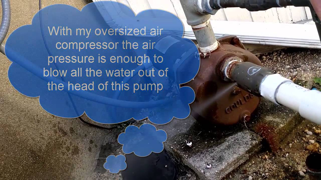 How To Winterize A Lawn Sprinkler Well Pump Youtube