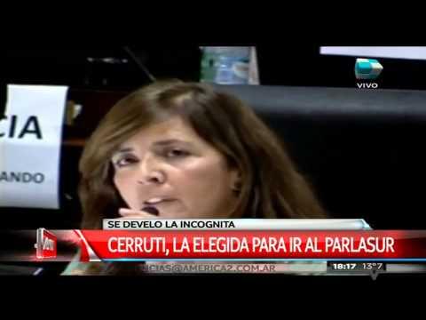 Cerruti es la elegida por el FpV para el Parlasur