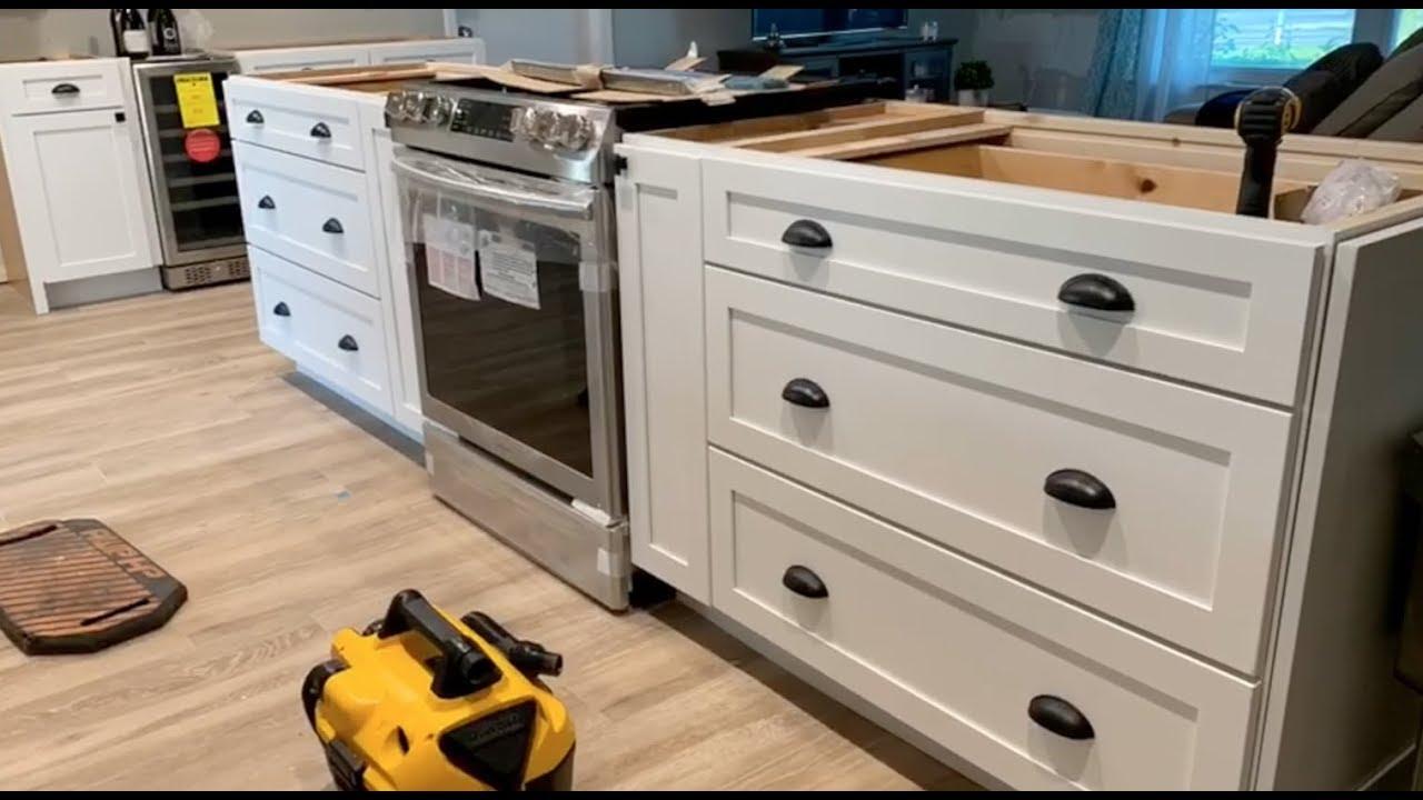 Kraftmaid Cabinets White Shaker Kitchen Installation Youtube