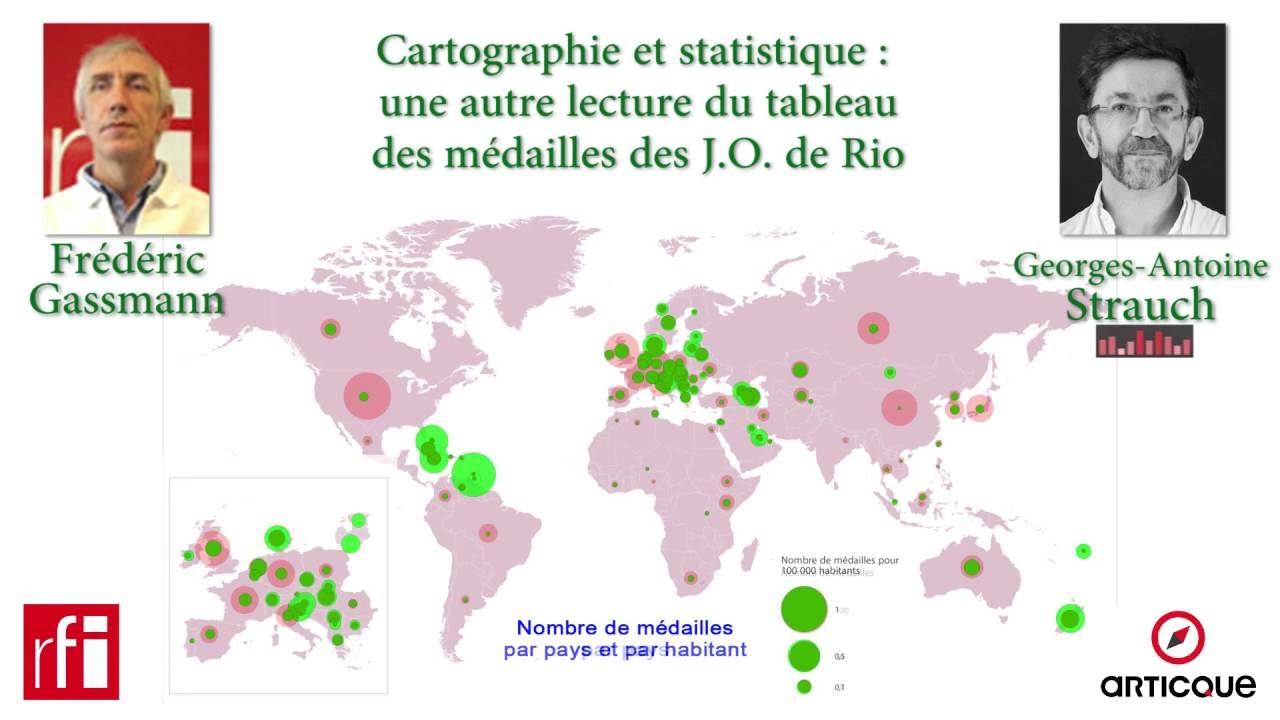 Une autre lecture du tableau des médailles des JO de Rio 2016 - YouTube