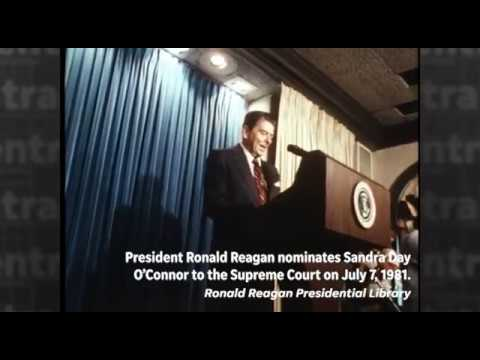 Watch President Ronald Reagan's announcement of Sandra Day O'Connor as a Supreme Court nominee
